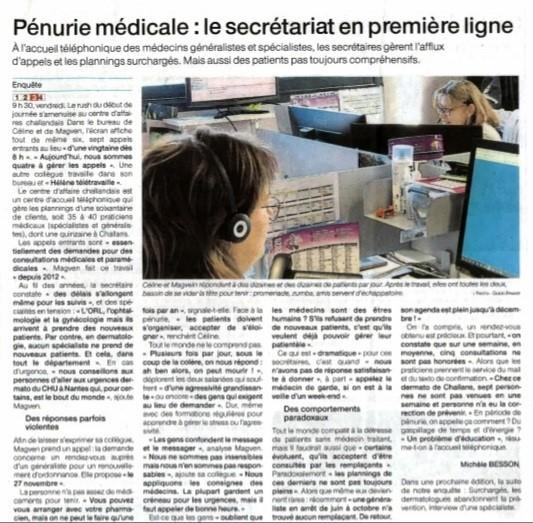 pénurie de médecins sur Challans